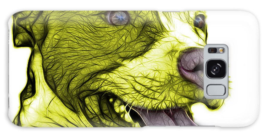 Pit Bull Galaxy S8 Case featuring the mixed media Yellow Bull Fractal Pop Art - 7773 - F - Wb by James Ahn