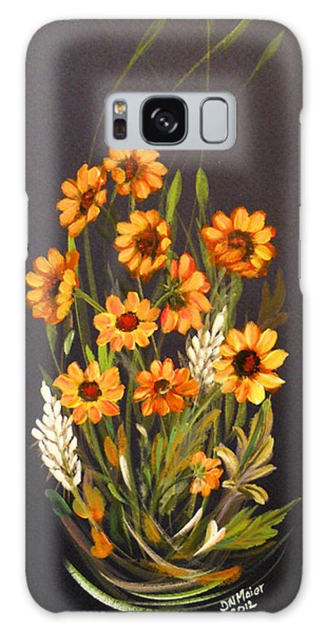 Daisy Galaxy S8 Case featuring the painting Yellow Daisies by Dorothy Maier
