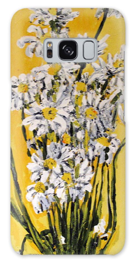 Daisy Galaxy S8 Case featuring the painting Yellow by Ian MacDonald