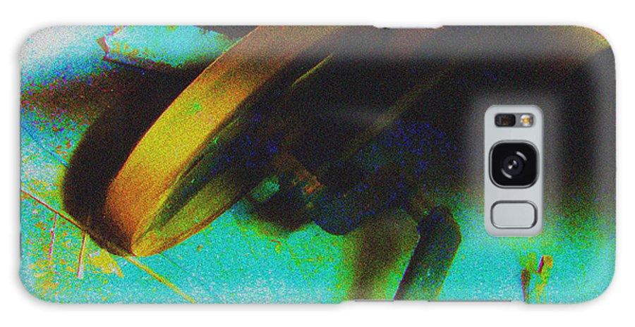 Manhattan Skyline Galaxy S8 Case featuring the drawing Yellow Machine by Mieczyslaw Rudek Mietko