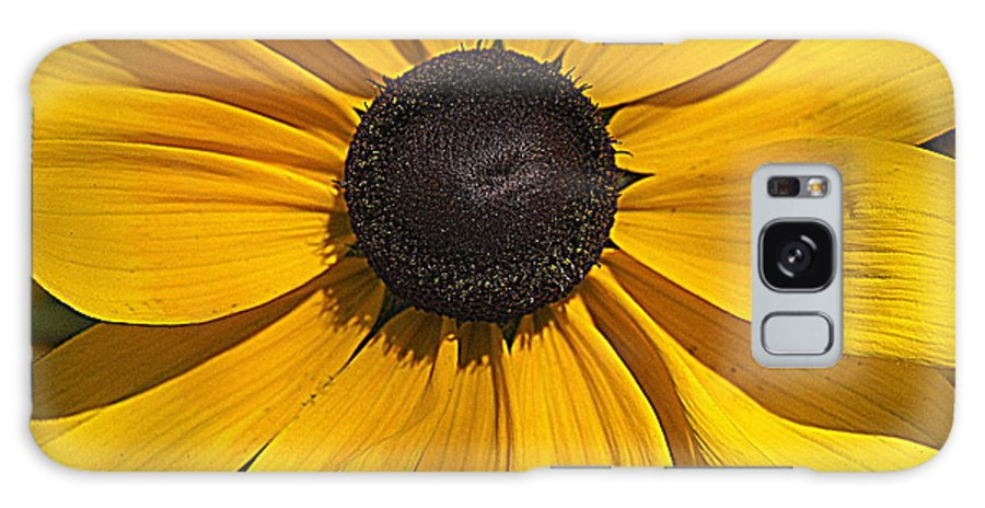 Yellow Flower Galaxy S8 Case featuring the photograph Yellow Macro by Laurie Perry