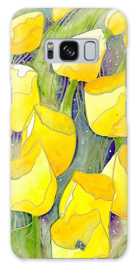 Yellow Tulips Galaxy S8 Case featuring the painting Yellow Tulips 2 by Ingela Christina Rahm