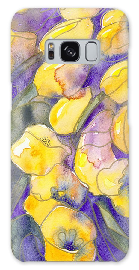 Yellow Tulips Galaxy S8 Case featuring the painting Yellow Tulips 3 by Christina Rahm Galanis