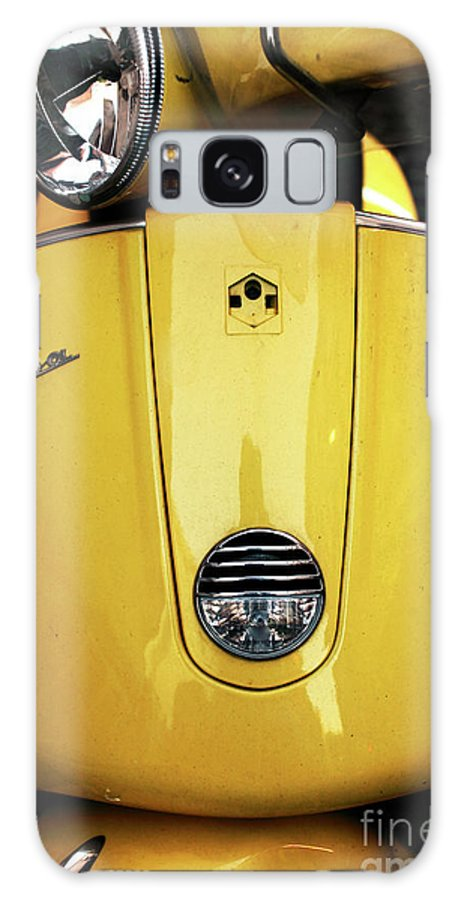 Yellow Vespa Galaxy S8 Case featuring the photograph Yellow Vespa by John Rizzuto