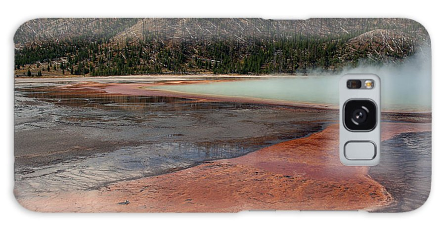 Hot Spring Galaxy S8 Case featuring the photograph Yellowstone 27 by Ingrid Smith-Johnsen