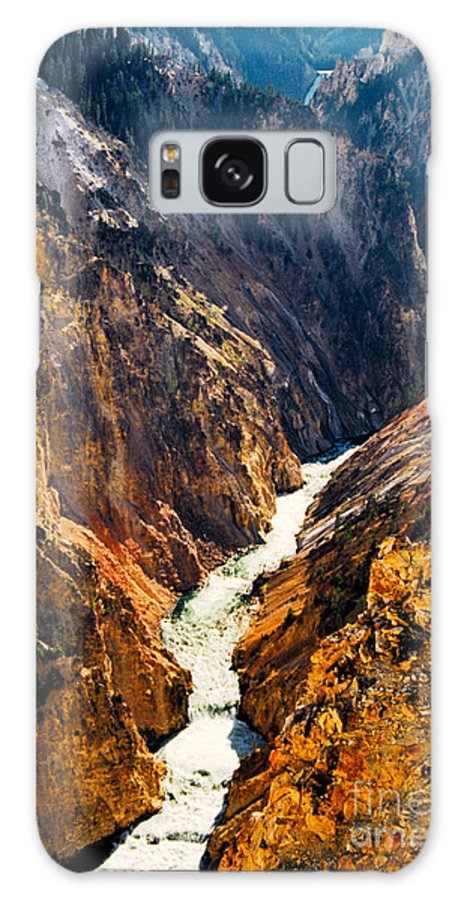 Yellowstone Galaxy Case featuring the photograph Yellowstone River by Kathy McClure
