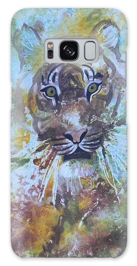 Tiger Endangered Galaxy S8 Case featuring the painting Yipes by Rosemary Hayes