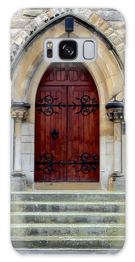 Church Galaxy S8 Case featuring the photograph Yorkshire Church Door by Dwight Pinkley