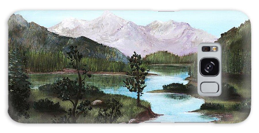 Interior Galaxy S8 Case featuring the painting Yosemite Meadow by Anastasiya Malakhova