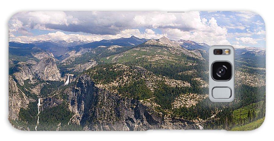 Panorama Galaxy S8 Case featuring the photograph Yosemite Panorama by Jeffrey Banke