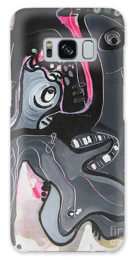 Couple Paintings Galaxy Case featuring the painting You And I Are by Seon-Jeong Kim