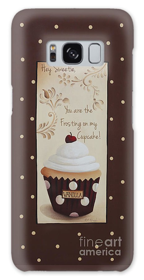 Art Galaxy S8 Case featuring the painting You Are The Frosting On My Cupcake by Catherine Holman