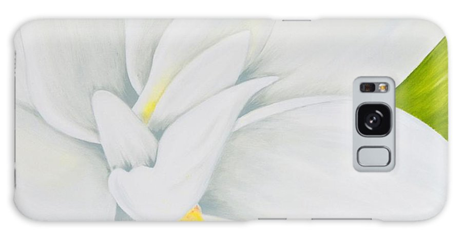 Gardenia Galaxy S8 Case featuring the painting Young Gardenia by Mary Deal