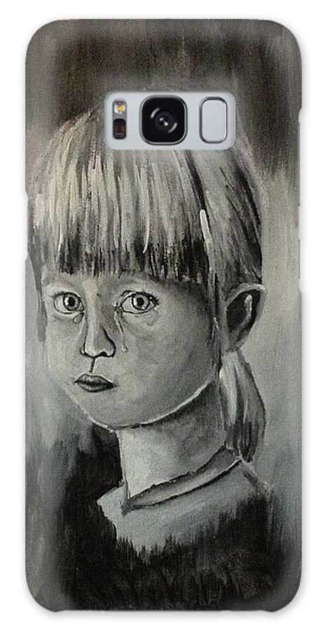 Crying Galaxy S8 Case featuring the painting Young Girl Crying by Shelby Rawlusyk