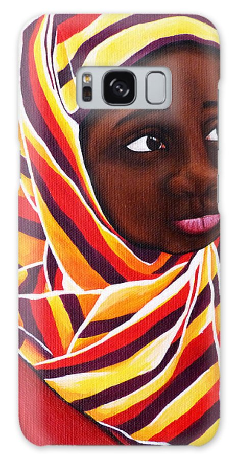 Girl Galaxy S8 Case featuring the painting Young Girl by Monique Morin Matson