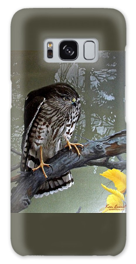 Sharp Shin Hawk Galaxy S8 Case featuring the painting Young Sharpie by Ken Everett