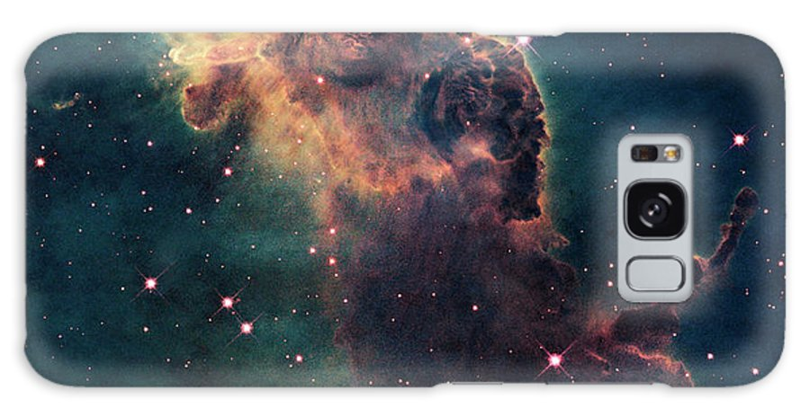 Outdoors Galaxy S8 Case featuring the photograph Young Stars Flare In The Carina Nebula by Nasa/esa