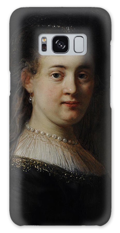 17th Century Galaxy S8 Case featuring the photograph Young Woman In Fantasy Costume, 1633, By Rembrandt 1606-1669 by Bridgeman Images