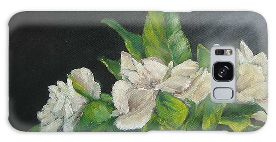 White Galaxy S8 Case featuring the painting Your Mother's Gardenias by Susan Richardson
