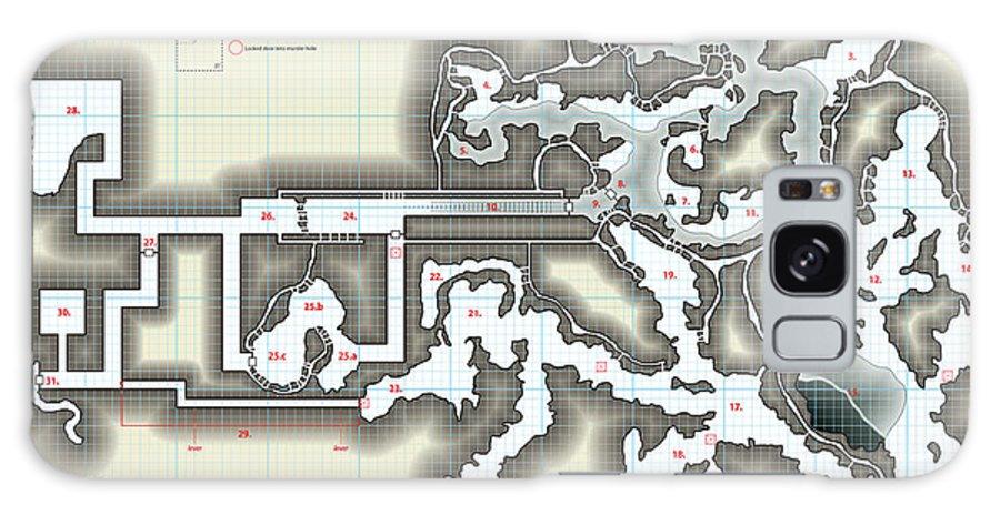 Usherwood Galaxy S8 Case featuring the digital art Yrchyn The Tyrant Kobold Lair Map by James Kramer