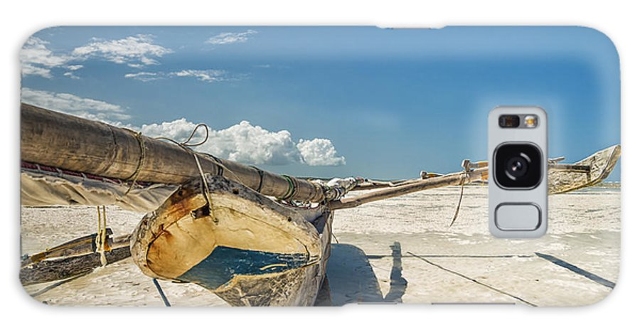 3scape Galaxy Case featuring the photograph Zanzibar Outrigger by Adam Romanowicz