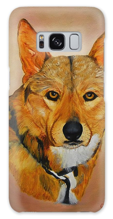 Animals Galaxy S8 Case featuring the painting Zavious by Quwatha Valentine