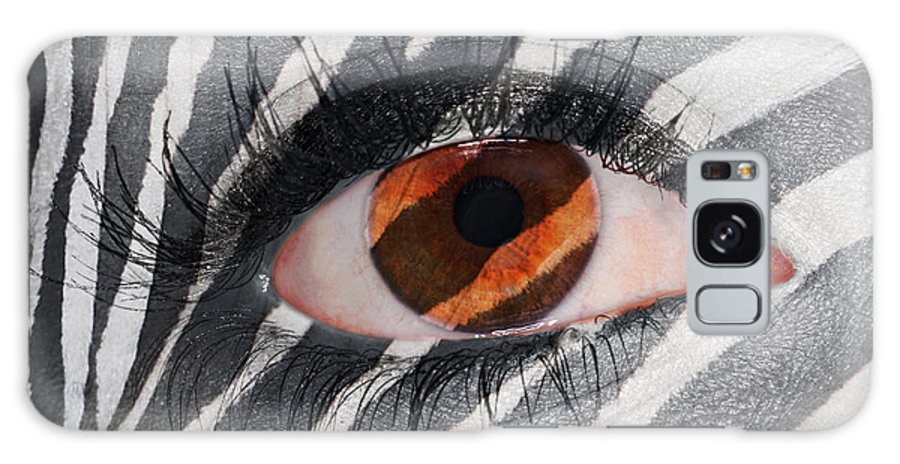 Creepy Galaxy S8 Case featuring the photograph Zebra Eye by Paul Fell