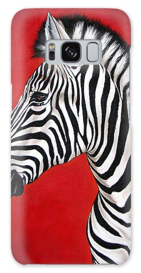 Zebra Galaxy Case featuring the painting Zebra by Ilse Kleyn