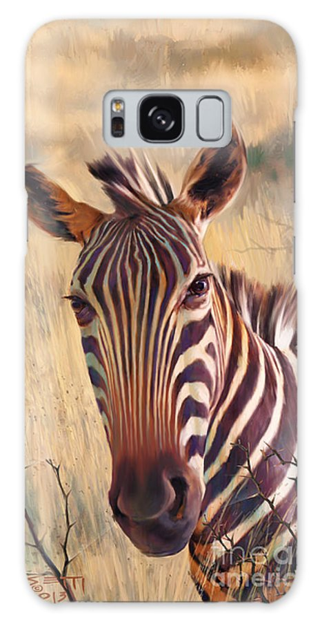 Zebra Paintings Paintings Galaxy S8 Case featuring the painting Zebra by Rob Corsetti