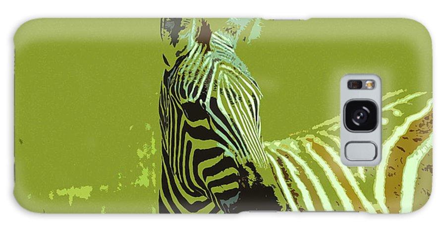 Kenya Galaxy S8 Case featuring the digital art Zebra by Ronald Jansen