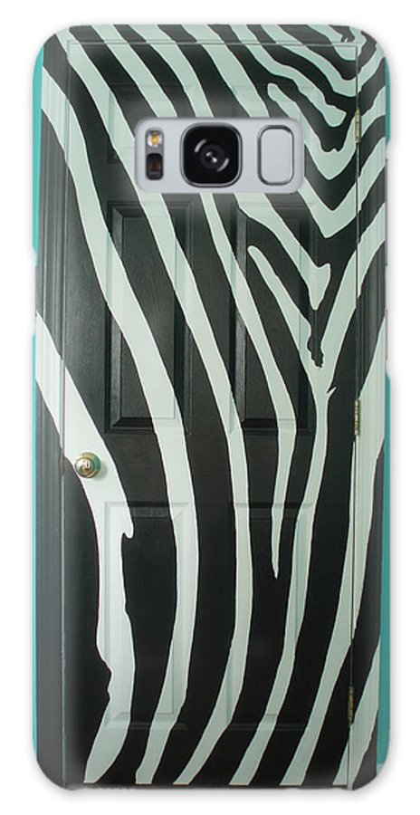 Design Galaxy S8 Case featuring the painting Zebra Stripe Mural - Door Number 1 by Sean Connolly