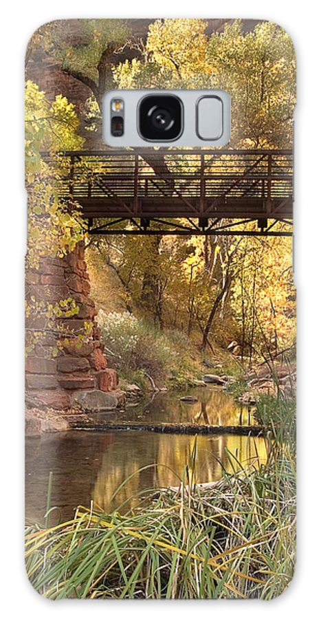 3scape Galaxy S8 Case featuring the photograph Zion Bridge by Adam Romanowicz