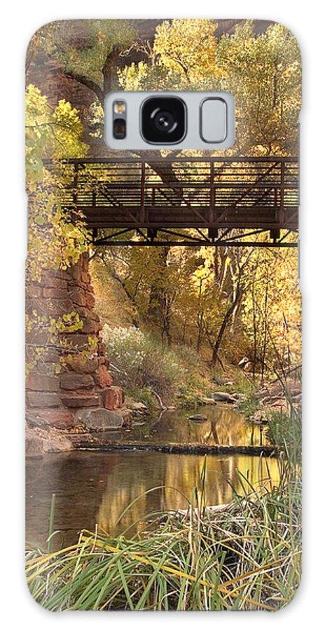 3scape Galaxy S8 Case featuring the photograph Zion Bridge by Adam Romanowicz