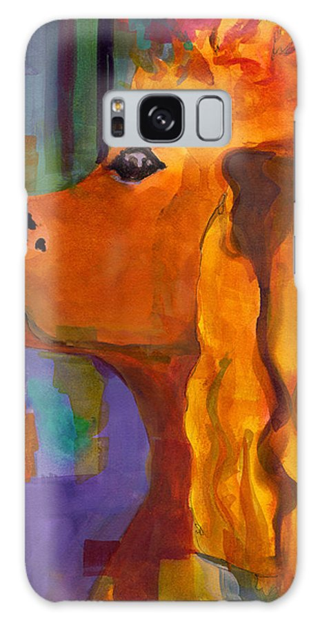 Dog Galaxy S8 Case featuring the painting Zippy Dog Art by Blenda Studio