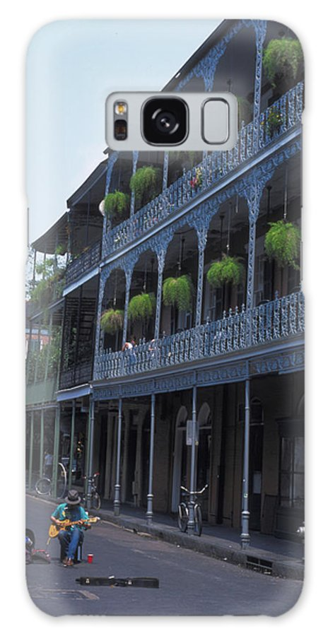Musicians Galaxy S8 Case featuring the photograph Musicians On Bourbon Street by Carl Purcell