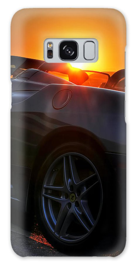 Ferrari Galaxy S8 Case featuring the photograph 01 Ferrari Sunset by Michael Frank Jr