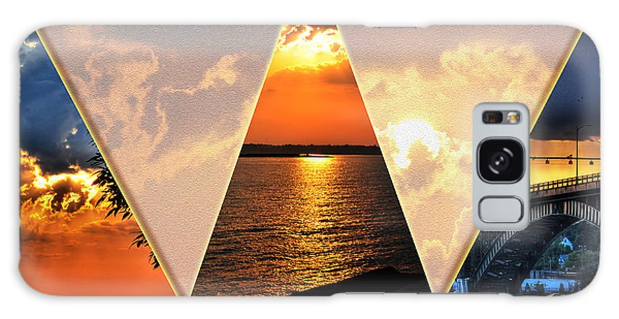 Galaxy S8 Case featuring the photograph 0a Relaxing Sunsets Collage by Michael Frank Jr
