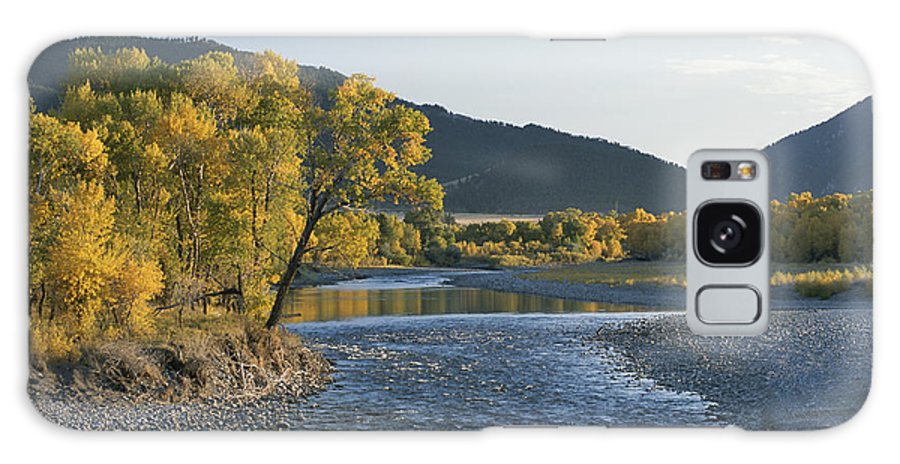 North America Galaxy S8 Case featuring the photograph A Scenic View Of The Yellowstone River by Tom Murphy