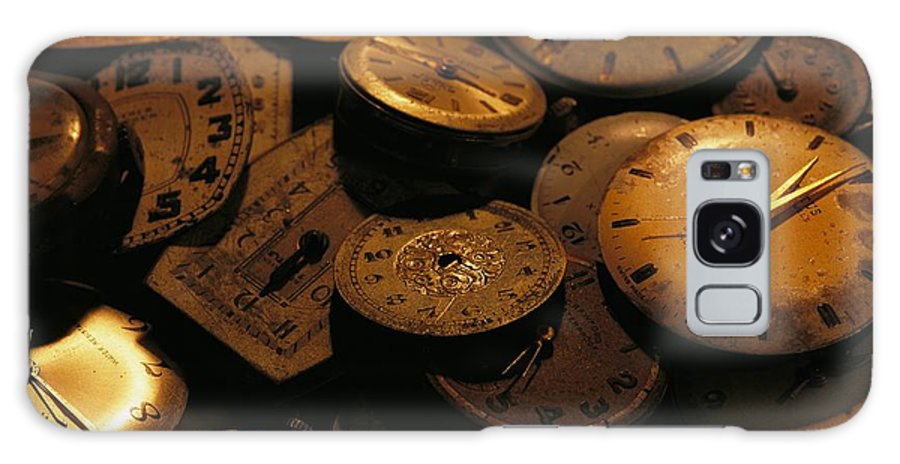 North America Galaxy S8 Case featuring the photograph A Still Life Of Old Watch Faces by Joel Sartore