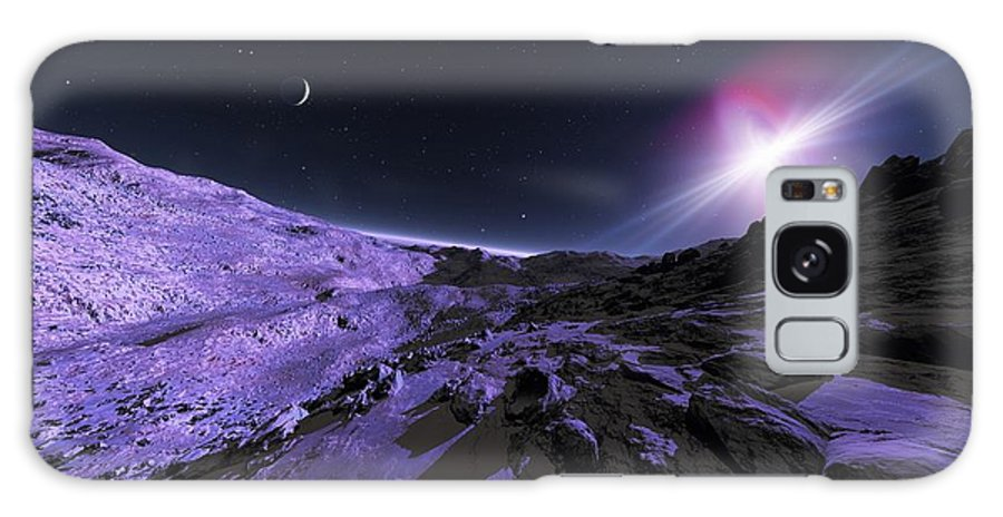 Planet Galaxy S8 Case featuring the photograph Alien Lanscape, Artwork by Detlev Van Ravenswaay