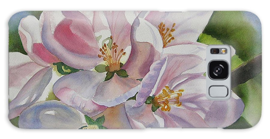 Apple Galaxy S8 Case featuring the painting Shadowed Apple Blossoms by Sharon Freeman