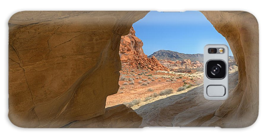 Arch Galaxy S8 Case featuring the photograph Arch Valley Of Fire by Dean Pennala
