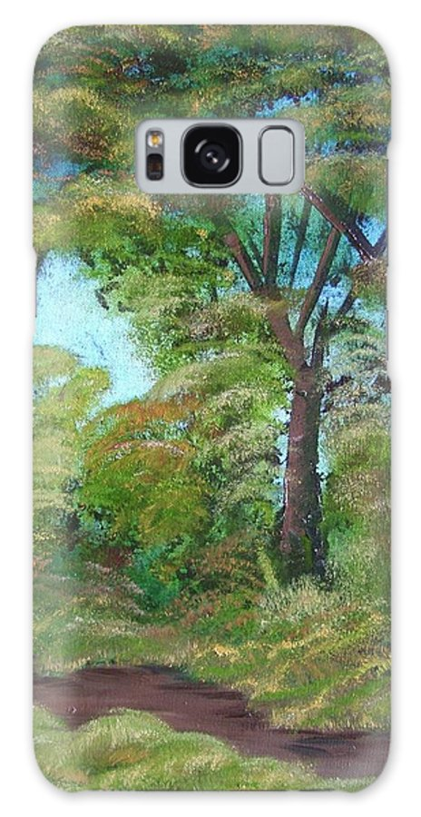 Autumn Galaxy S8 Case featuring the painting Autumn Evening by Charles and Melisa Morrison