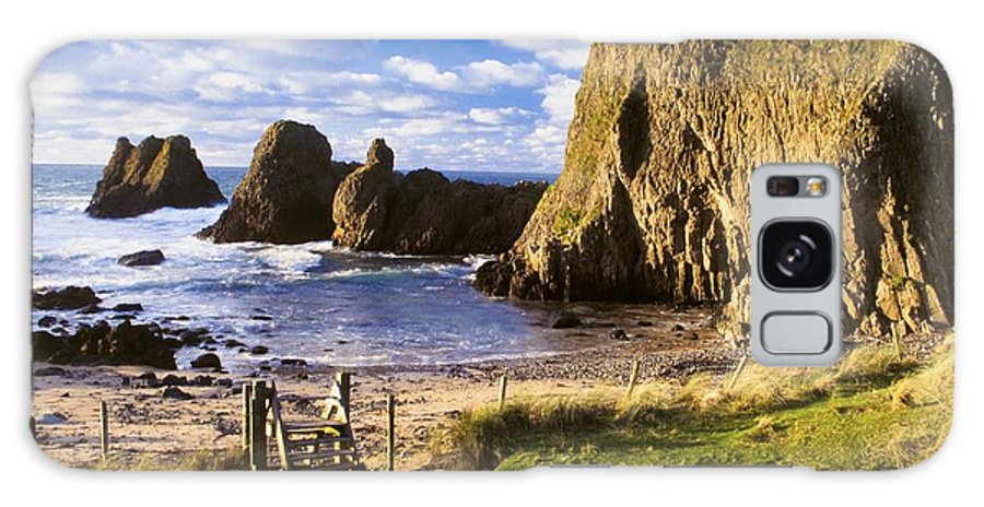 Day Galaxy S8 Case featuring the photograph Ballintoy, County Antrim, Ireland Beach by The Irish Image Collection