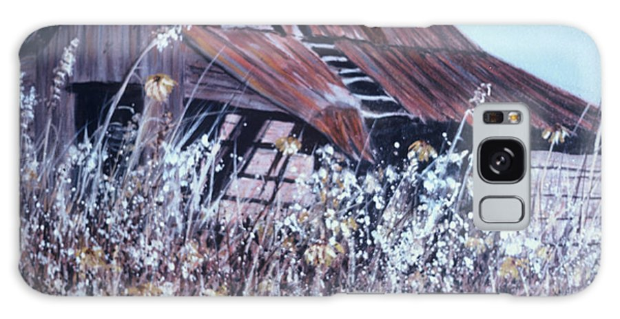 Rustic Galaxy Case featuring the painting Barn in Sunlight by Ben Kiger