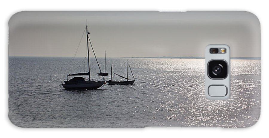 Dinghie Galaxy S8 Case featuring the photograph Boats Moored Off Of Leigh Essex by David Pyatt