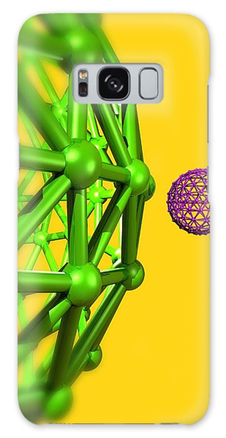 Artwork Galaxy S8 Case featuring the photograph Buckyball Molecules, Artwork by Victor Habbick Visions