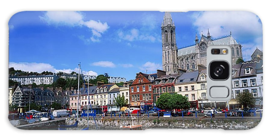 Blue Sky Galaxy S8 Case featuring the photograph Cobh Cathedral & Harbour, Co Cork by The Irish Image Collection
