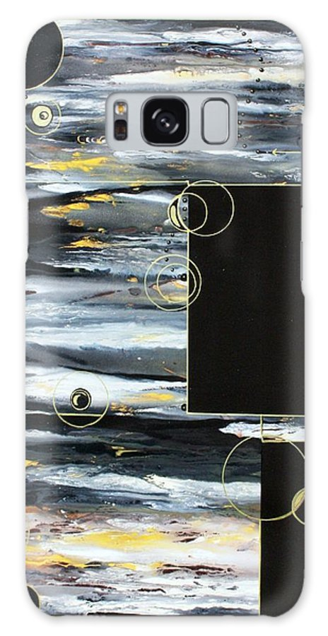 Abstract Galaxy S8 Case featuring the painting Coin Toss by Pat Purdy