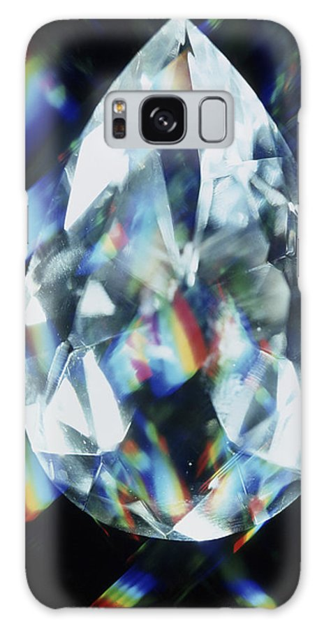 Diamond Galaxy S8 Case featuring the photograph Cut And Polished Diamond by Pasieka